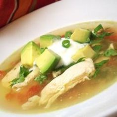 Chicken and Avocado Soup with Lime
