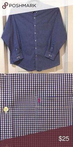 52eedc6b Izod long sleeve men's shirt size XXL Izod Long sleeve button down shirt  color blue and