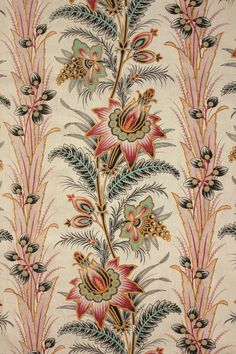 Antique French 19th century fabric c1880 Indienne c1880 printed material_ http://www.ebay.com/itm/Antique-French-19th-century-fabric-c1880-Indienne-c1880-printed-material-/171309432219?pt=LH_DefaultDomain_0&hash=item27e2d67d9b