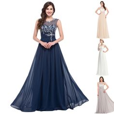 2016 Sexy Lace Long Evening Prom Ball Gown Formal Party Bridesmaid Wedding Dress