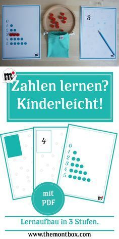 Kinderleicht die Zahlen lernen , The Effective Pictures We Offer You About Montessori Education what is A quality picture can tell you many things. You can find the Montessori Education, Montessori Materials, Preschool Themes, Math Activities, Numbers Preschool, Kindergarten Learning, Teaching, School Entrance, Learning Numbers