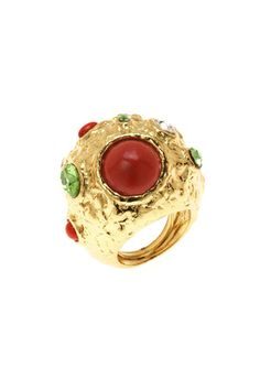 KENNETH JAY LANE - Stone Cluster Ring $45.00 #rings