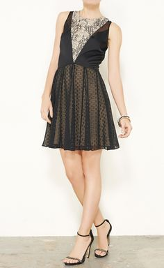 Erin Fetherston Black And Nude Dress, front