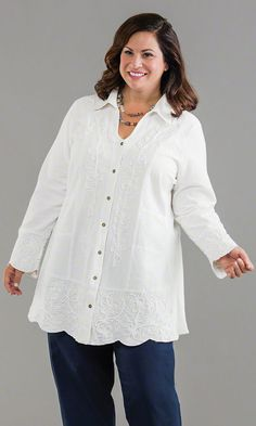 Dartmouth Blouse / MiB Plus Size Fashion for Women / Winter Fashion / http://www.makingitbig.com/product/5030