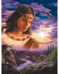 Robin Koni Solid-Faced Canvas Print Wall Art Print entitled Sunset Fire, None Native American Wolf, Native American Paintings, Native American Pictures, Native American Beauty, Native American Artists, American Indian Art, Native American History, Indian Pictures, Art Indien