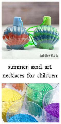 Kids love sand art! This fun craft is perfect for a birthday party or any party really. Tips on how to organize a sand art station for a beach or mermaid themed party.