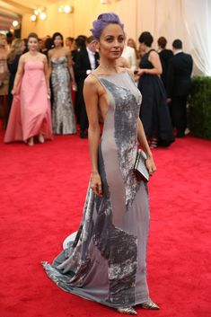 Met Ball Gala Red Carpet Arrivals - 2014 - Dress Code - White Tie & Tails . . . Nicole Richie in Donna Karan Atelier