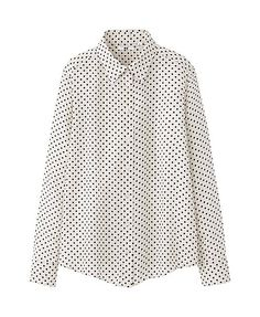 WOMEN SILK PRINT LONG SLEEVE BLOUSE from Uniqlo