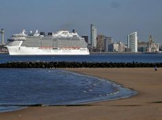 MS Royal Princess viewed from New Brighton, as she headed out of Liverpool Liverpool Town, Liverpool History, Liverpool England, New Brighton, Royal Princess, Photo Credit, Ms, Beach, Water