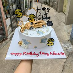 Birthday Cake For Father, Boy Birthday, Happy Birthday, Creative Cake Decorating, Creative Cakes, Korea Cake, Cute Baking, Food Cakes, Pretty Cakes
