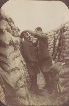 WWI; The Barber of the Trench. -WW1 History (@madefromWW1) | Twitter