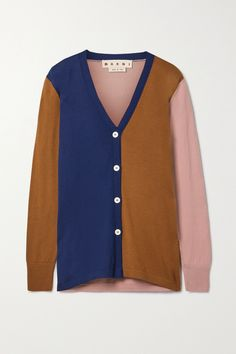 Marni's cardigan has been made in Italy from wool in shades of camel, royal-blue and baby-pink - the contrasting hues not only complement each other but work surprisingly well with a variety of other colors too. It's designed for a slightly loose fit and has a cozy, longline shape. Wool Cardigan, Long A Line, Sweater Weather, Marni, Fashion News, Royal Blue, Knitwear, Menswear, Loose Fit