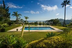 Villa for sale in El Madroñal, Benahavis. An immaculately presented private mansion with panoramic mountain and sea views in one of Marbella´s finest . Villa, Sea, Mansions, Outdoor Decor, Manor Houses, Villas, The Ocean, Mansion, Ocean