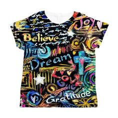 My design of Abstract-Believe  Women's All Over Print T-Shirt.