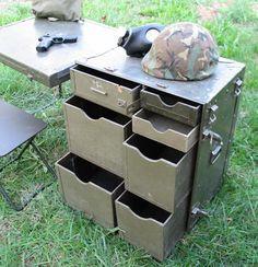 Vintage Military Field Desk US GI Issue on Etsy, $205.00