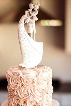 18 Romantic Wedding Cake Toppers ❤ See more: http://www.weddingforward.com/romantic-wedding-cake-toppers/ #weddings #cakes