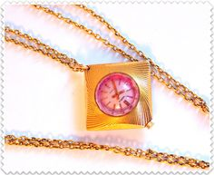 "Vintage women's  watch pendant ""Chaika"" (eng.-""Seagull""). Gold vintage watch. Ladies watch. Chaika watch. Chaika wrist watch. Vintage watch Watches Gold vintage watch soviet watch womens watch ladies watch Chaika watch Chaika wrist watch vintage jewelry ussr watch mechanical watch gift for her pendant necklace 71.00 USD #goriani"