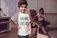 Real Men Love Cats Kids Shirts Kids Tshirt Toddler Shirt Gift For Kids Children Fashion Kid Shirt Kid T-Shirt Boys Top Girl Top Kids Clothes Cat Shirts, Kids Shirts, T Shirts For Women, Cat Lover Gifts, Cat Lovers, Piece Of Clothing, Kids Clothing, Man In Love, Real Man