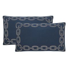 Safavieh Sibine Embroidered Throw Pillow 2-piece Set, Blue