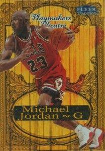 aa5c12b5bc1ac2 Michael Jordan Cards - 1998-99 Fleer Tradition Playmakers Theatre Michael  Jordan 100 Jordan 100