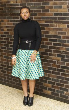DIY Circle Skirt (African Print) | StyleByBiK�