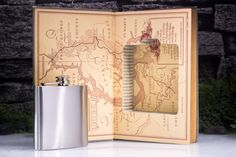 Hollow Book Safe and Hip Flask  Vintage 1939 The by HollowBookCo