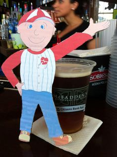Flat Bob having a cold one!  Help us raise awareness of SADS conditions and save young lives!  www.StopSADS.org/flat-bob