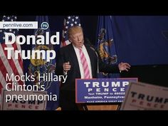 Donald Trump imitated Hillary Clinton stumbling as she left a September 11th memorial ceremony at Ground Zero in New York City while suffering from pneumonia, as he spoke at a campaign rally at the Spooky Nook Sports Complex in Lancaster...