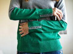 Dare to DIY: Tutorial DIY: jersey bicolor