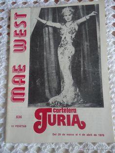CARTELERA TURIA. MAE WEST. Nº 636.AÑO 1976