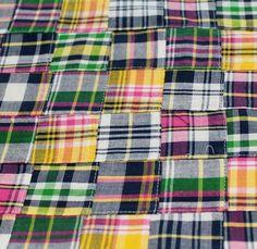 Mini Madras Patchwork Cotton - Blues/Greens/Pinks - Gorgeous FabricsGorgeous Fabrics