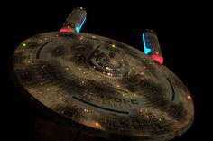 USS Enterprise (NCC-1701-C) after battle damage by Klingons.