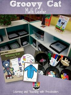 """Groovy Cat"" Math Center (from Learning & Teaching with Preschoolers)"