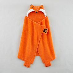 How Do You Zoo Hooded Towel (Fox) in Robes & Hooded Towels | The Land of Nod / 27x48 #NodWishlistSweeps