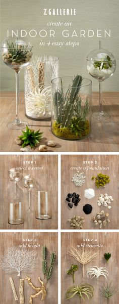 Spring design idea: create your own terrarium in 4 simple steps. Find everything you need right here.