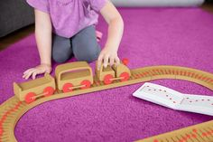 """ceyren: """" Sound track, by Ricardo Seola A Wooden Train Set That Lets Kids Compose Tune """"One of the most important aspects of my childhood was playing with musical toys,"""" Seola remembers. Les Twins, Wooden Toy Train, Wooden Toys, Packaging, Musical Toys, Train Set, Innovation Design, Business Innovation, Kids Songs"""
