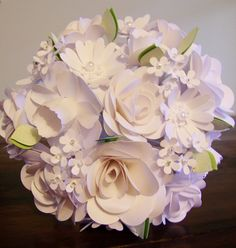 Hey, I found this really awesome Etsy listing at http://www.etsy.com/listing/130762822/white-paper-flower-bouquet