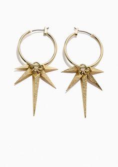 & Other Stories Polaris Hoop Earrings  in Gold