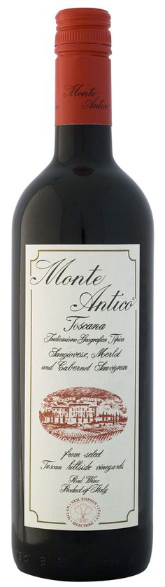 Monte Antico 2009 Toscana.  Sangiovese, Merlot and Cabernet Sauvignon