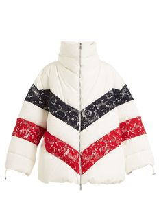 Chunjie tri-colour lace quilted down jacket | Moncler Gamme Rouge | MATCHESFASHION.COM US