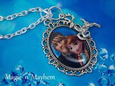 Anna  Kristoff - Disney's Frozen - Sven - Reindeer  -  Artisan Necklace