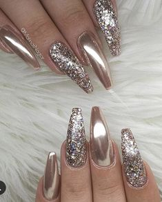 60 trendy sparkle acrylic coffin nails design with glitter inspiration # acrylic . - 60 Trendy Sparkle Acryl Sarg Nägel Design mit Glitzer Inspiration … 60 Trendy Sparkle acrylic coffin nails design with glitter inspiration # acrylic Sparkle Nails, Glam Nails, Bling Nails, My Nails, Classy Nails, Simple Nails, Fabulous Nails, Gorgeous Nails, Nagel Bling