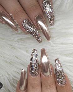 60 trendy sparkle acrylic coffin nails design with glitter inspiration # acrylic . - 60 Trendy Sparkle Acryl Sarg Nägel Design mit Glitzer Inspiration … 60 Trendy Sparkle acrylic coffin nails design with glitter inspiration # acrylic Sparkle Nails, Glam Nails, Fancy Nails, Bling Nails, Stiletto Nails, Coffin Nails, Classy Nails, Simple Nails, Fabulous Nails