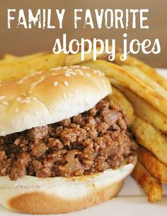 High Heels and Grills: Family Favorite Sloppy Joes. Best sloppy joe recipe I've ever tried. Your whole family will love it for sure!