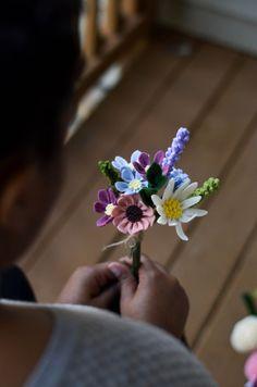 Felt Flower Bouquet / Wildflower Bouquet / by LeaphBoutique