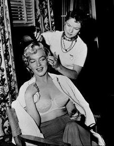 M. Monroe &  hairdresser.  c. 1953