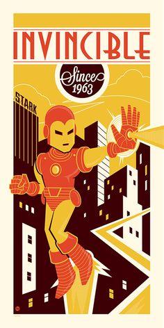 Fantastic illustrations of Marvel superhero Iron Man created by Philadelphia-based cartoonist Dave Perillo.