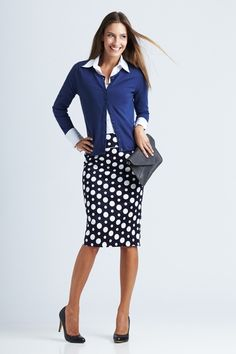 bird keepers The Spot Pencil Skirt - Womens Knee Length Skirts - Birdsnest Online