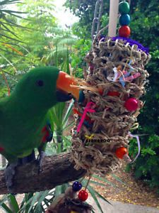 Bird Toys Medium Large Parrot TOY Foraging TOY Seagrass Roll   eBay