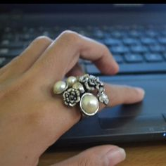 Flowers and Pearls! by Karen Mae Personal Taste, January, Pearl Earrings, Pearls, Flowers, Jewelry, Style, Swag, Pearl Studs